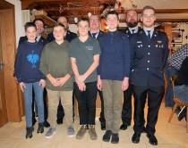 Vier Jugendliche in die Kameradschaft aufgenommen